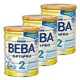 Nestlé BEBA Optipro 2, Säugling Milch, Babynahrung, Folgemilch, Dose, 3 x 800 g, 12344741