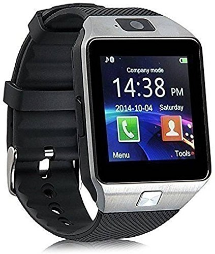 MCMP Oximus Dz09 Smartwatch with SIM Slot, Memory Card Slot and Camera Support (Black)