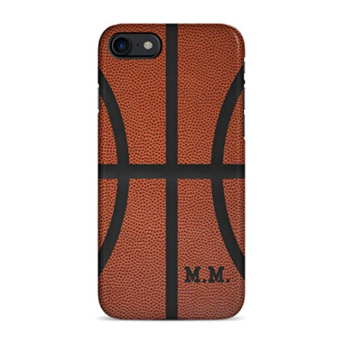 Basketball Ball Personalised Customizable Custom Name Initial Text Create Your Own Gift Present Schutzhülle aus Hartplastik Handy Hülle für iPhone 7 / iPhone 8 Case Hard Cover