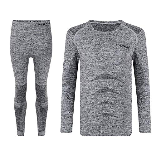 Dare 2b Kids Zonal B/L Base Layer Mixte Enfant, Charcoal, FR : S (Taille Fabricant : S)