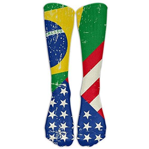 estrümpfe, Motiv: USA Brasilien Flagge, Einheitsgröße ()