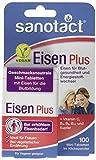sanotact Eisen Plus Mini-Tabletten Nahrungsergänzungsmittel, Kupfer, 4 Vitamine/Klickspender, 100 Stück