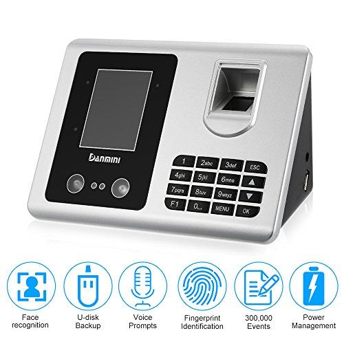 DANMINI TFT LCD Display Gesichtserkennung + Fingerabdruck Anwesenheit Biometrisches Zutrittskontrollsystem USB Freier Software Mitarbeiter Checking Leser (Fingerabdruck-leser-software)