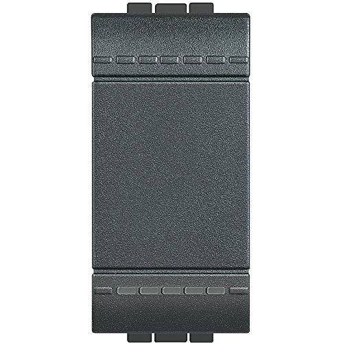 BTicino SL4001 Livinglight Interruttore, 1P, 16 A, Antracite