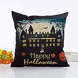 VEMOW Heißer Halloween Dekoration Schlafsofa Home Decor Kissenbezug Kissenbezug 45cm*45cm(Mehrfarbig A, 45cm*45cm)