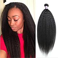 Coarse capelli umani Yaki Weaves Cheap 6 A Brazilian Virgin Hair Kinky Straight 1pcs/lot 25,4 - 76,2 cm (Di Yaki Dei Capelli Umani Weave)