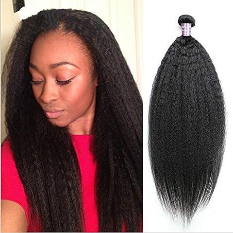 Épais Yaki de Tissages de cheveux humains cheveux vierges brésiliens Bon Marché 6 A/Droite 1/Lot 25cm /10