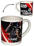 Unbekannt Henkeltasse -  Star Wars - Darth Vader - Luke Skywalker  incl. Name - Porzellan / Keramik - Trinktasse mit Henkel / Tasse Becher - Porzellantasse Tassen für..