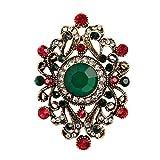Baosity Donna Spille di Fiore Gioielli Strass Monili per Vestit Abiti - Verde