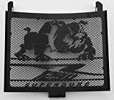 Heizkörperabdeckung/Kühlergrill 1290 R Superduke schwarz satiniert Bulldogge + Gitter schwarz
