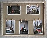 "GUTEINTE Cadre Photo, Cadre Antique Rayures , Cadres Photo ""Home & Love"" DIY - 50 x 40 CM"