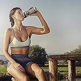 SKYFORTH Trinkflasche im 2-er Set grau I Sportflasche 1l und Wasserflasche 650 ml I BPA frei, auslaufsicher, spülmaschinenfest, Wasser Flasche aus Tritan I Trinkflaschen für Sport, Fitness, Fahrrad, Outdoor, ab 8 Jahre bis Erwachsen - 8