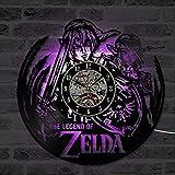Mchoff Black Hollow Die Legende von Zelda CD LED Record Uhr Geschenk für Gamer kreative Vinyl Record Clock antiken Stil Uhr
