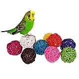hypeety 100Parrot Colorful Bell Kauen Spielzeug Ball Toys DIY Zubehör Spielzeug für Papageien Sittiche Nymphensittiche Sittiche Unzertrennliche Finch Aras Käfig Teil (zufällige Farbe) (2,5cm/2,3cm Glocken)
