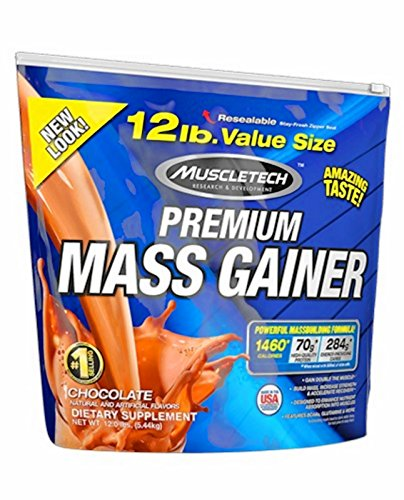 Muscletech Premium Series 100% Premium Mass Gainer - 5,44 kg Chocolate - 51XqngV LZL