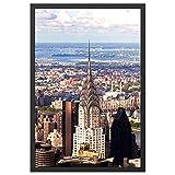 Onewall Cadre 61x91.5 cm, Cadre Poster en Aluminium, Cadre Photo Noir Grand Format pour Décoration Murale et Plus