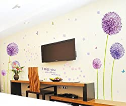 Dandelion and Butterfly Wall Stickers & Murals Wall Decals Wallpaper Wall Decorate and Removable Wall D¨¦cor Decorative Painting Supplies
