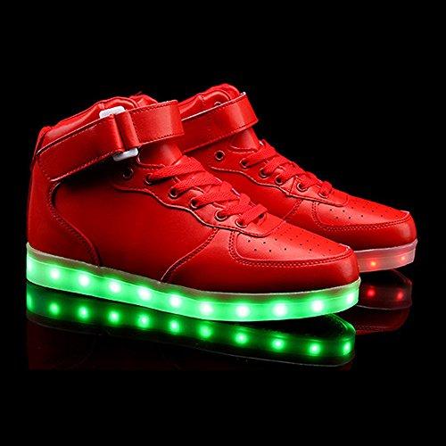 Convidar Vermelho Usb Levou Dança Desportivos Luminescente Eastlion Sapatos Fantasma Colorido Fluorescente aHqpSwFSP