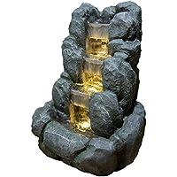 Zen' Light Nature Rocky Fuente, Resina, Gris, 24x 21x 34cm