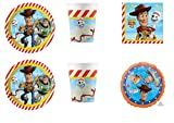 Party Store web by casa dolce casa Toy Story 4 Coordinato ADDOBBI TAVOLA Festa Woody E Buzz Lightyear - Kit n°10 CDC-(40 Piatti,40 Bicchieri,40 TOVAGLIOLI,1 Pallone Foil)