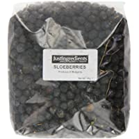 JustIngredients Essential Baies de prunelier (Dried Sloe Berries) 1kg