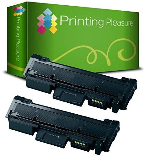 Printing Pleasure MLT-D116L Kit 2 Toner Compatibili per Samsung Xpress SL-M2625 M2626 M2675 M2676 M2825 M2826 M2875 M2876, Nero, 2 Pezzi