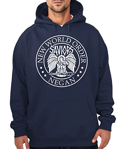 -- Negan New World Order -- Boys Kapuzenpullover Navy
