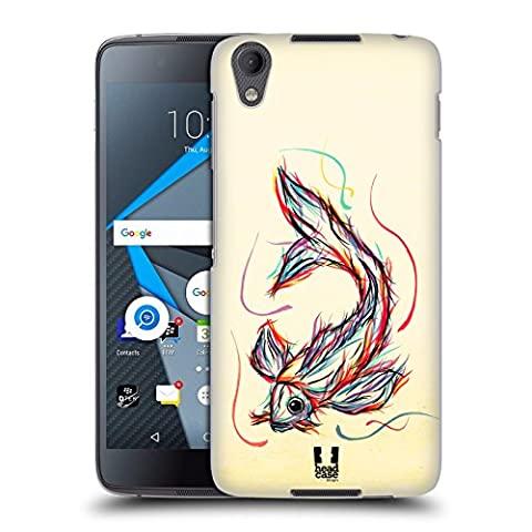 Head Case Designs Koi Fish Colourful Animal Scribbles Hard Back Case for BlackBerry DTEK50 / Neon