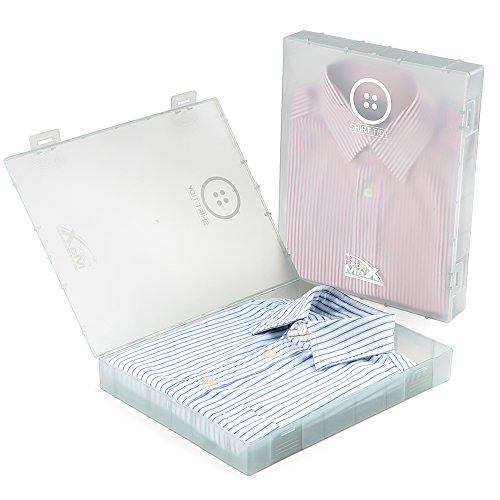 Cabin Max Hemd-Tasche - Paket mit 2 - Einfache Lösung zum Packen und auf Reisen (Grau) -