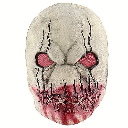 TYXHZL Halloween Bloody Zombie Terrorist Latex Maske Scary Spukhaus Room Escapes Kopfbedeckungen