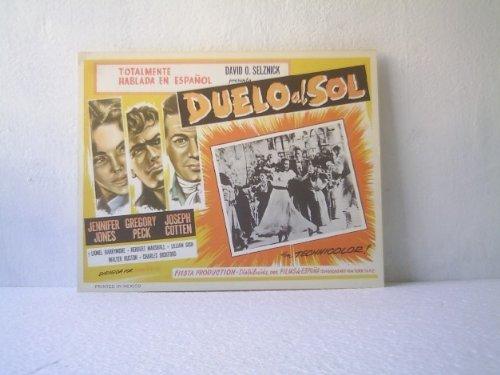 Original Mexican Lobby Card Duel In The Sun Gregory Peck Jennifer Jones 1946