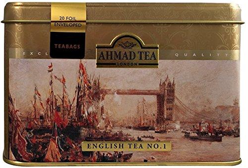 Ahmad Tea- London mit Londoner Motive aus 20 English Tea No.1 Schwarzer Beutel- Tee (Ahmad Tea English 1)