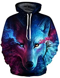 78f28a69f OYABEAUTYE Boys' Teen 3D Print Graphic Sweatshirts Long Sleeve Pullover  Hoodies with Pocket