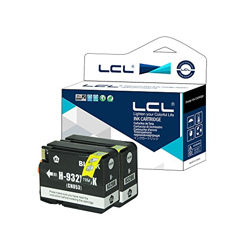 LCL Cartuchos de Tinta Compatibiles 932XL(2 Negro) Reemplazo para HP Officejet 6100 6600 6700 7110 7610 7612 7510 7512