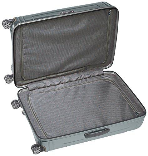 Samsonite Neopulse Suitcase 4 Wheel Spinner 75cm Large Metallic Silver