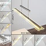 LED Pendelleuchte Junsele dimmbare längliche höhenverstellbare Zimmerlampe für Esszimmer - Wohnzimmer - Schlafzimmer - fest installierte LED - Lichtfarbe steuerbar - Sensorsteuerung - 3000 - 6500 Kelvin