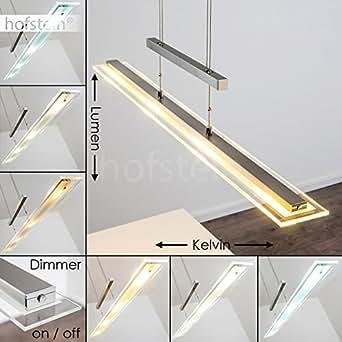 led pendelleuchte dimmbar l ngliche h henverstellbare zimmerlampe f r esszimmer wohnzimmer. Black Bedroom Furniture Sets. Home Design Ideas