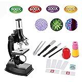 Kinder Mikroskop, EgoEra® 100x 300x 600x 900x Vergrößerung Wissenschaft Kinder Mikroskop Kit mit LED Beleuchtung mit Zubehör Set für Schüler und Kinder