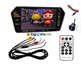 #10: Genxtra® 7 Inch Full HD Touch Screen Bluetooth LED Screen + 8 LED Reverse Camera for Cars