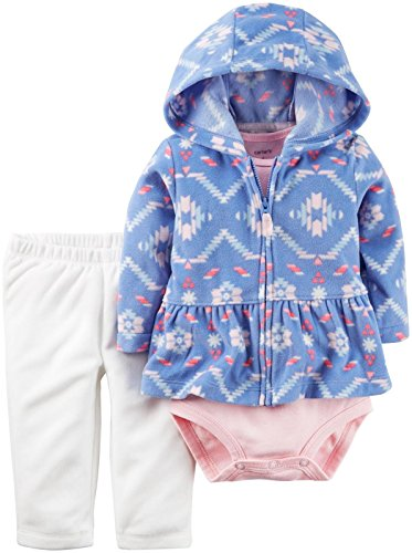 Carter's Baby Girls/Kleinkinder 3 Piece Jacke/Hosen / Bodysuit Set (9 Monate)