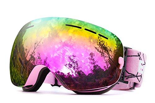 Otg revo occhiali da sci,snowboard maschera sci sferica wide view anti nebbia protezione uv400 occhiali per adulti e adolescenti , per sci snowboard e sport invernali - by energeticskytm