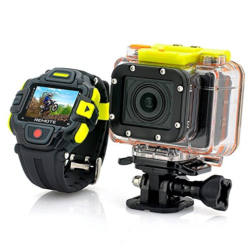 Pluto Plus G8900 Sport Action Camera 60M Waterproof 16.0MP DVR With Full HD 1080P 60FPS WIFI Control By Smart Watch Phone & Wrist Watch Remote