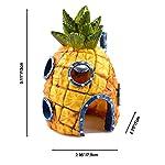 Ishowstore Spongebob Fish Tank Ornament Aquarium Decorations Squarepants Ornaments pineapple house (Pack of 3) 9