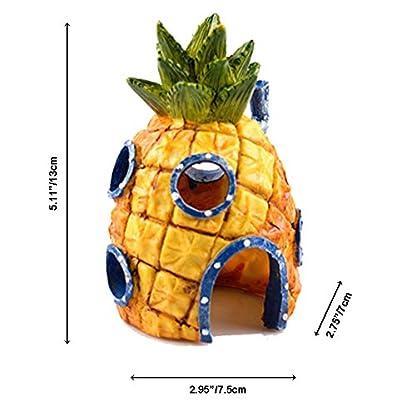 Ishowstore Spongebob Fish Tank Ornament Aquarium Decorations Squarepants Ornaments pineapple house (Pack of 3) 4