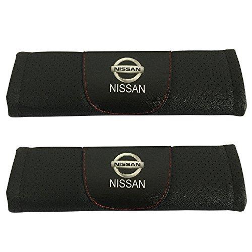 2-Set Nissan Auto Sitz Sicherheitsgurt umfasst die Leder Schulter Pad Zubehör Passform für Nissan Auto Modell