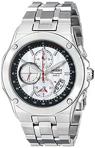Orient Homme Chronographe Alarme CTD0S002W 100m en 1 / 5 seconde, petite seconde, date blanc Montre