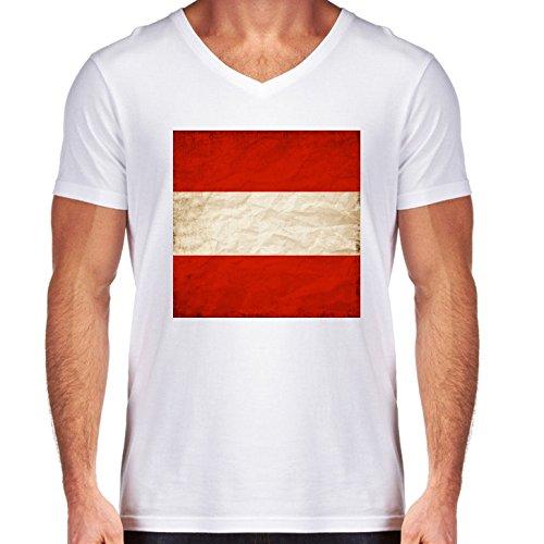 t-shirt-blanc-pour-homme-col-v-taille-m-autriche-drapeau-europe-vienna-by-wonderfuldreampicture