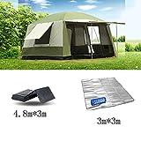 QFFL zhangpeng Zelt warm und winddicht Regen Zelt 6-12 Personen aus dem Boden Zelt Angeln Zelt Zelt Pergola Tunnelzelte ( Farbe : C )