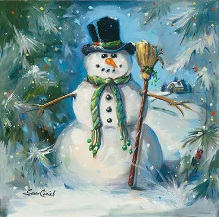 feelingathome. it, impresión sobre lienzo 100% algodón sin muñeco de nieve de spazzamento cm 85x 87(cm personalizables a opcional)