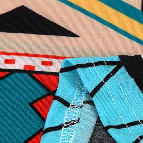 Culater® le donne di moda vintage indietro hollow mini abito senza maniche Blu